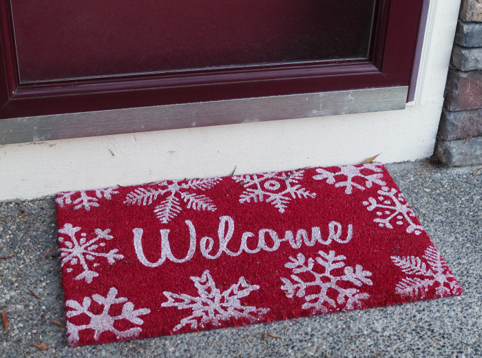 welcome mat holidays