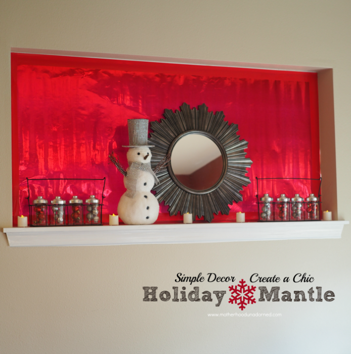 Simple Decor Create a Chic Holiday Mantle #BigSeason #BigLots AD