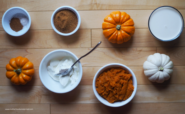 Ingredients for no bake pumpkin cheese mouse