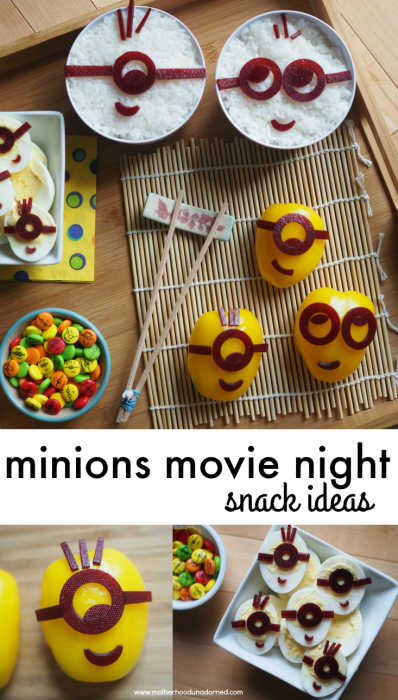 Minions Movie Night Snack Ideas #MinionsMovieNight AD 2