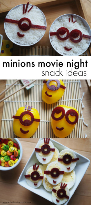 Minions Movie Night Snack Ideas Pinterest