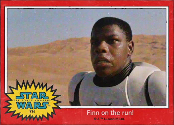 Star Wars Finn Trading Card