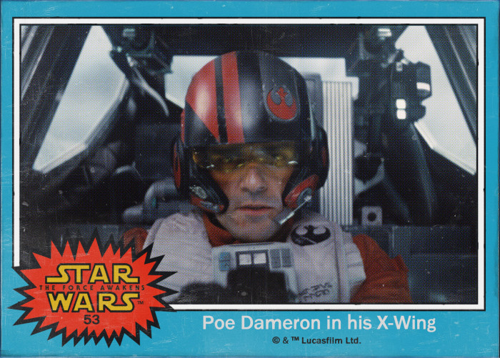 Star Wars Poe Dameron Trading Card