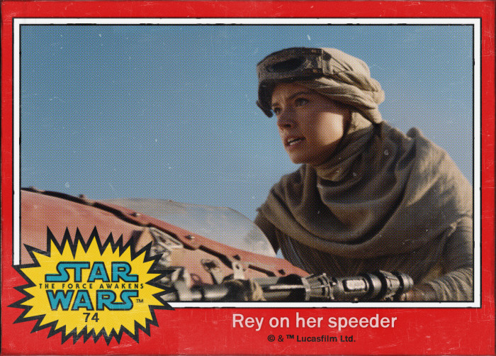 Star Wars Rey Trading Card