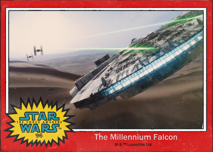 Star Wars The Millennium Falcon Trading Card
