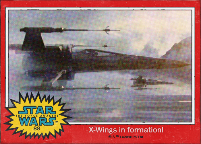 Star Wars X-Wings Trading Card