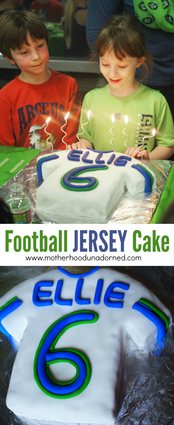 football jersey birthday cake tutorial