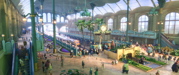 ZOOTOPIA – TRAIN STATION. ©2016 Disney. All Rights Reserved.