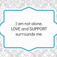 We are Not Alone: Moms Mental Health Support {Printable}
