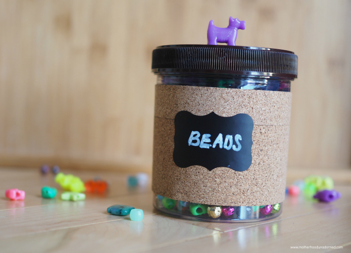 beads storage container recycled DIY