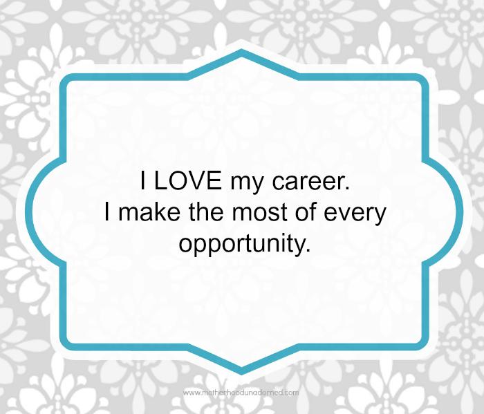 Day 19 30 Days of Positive Affirmations Career