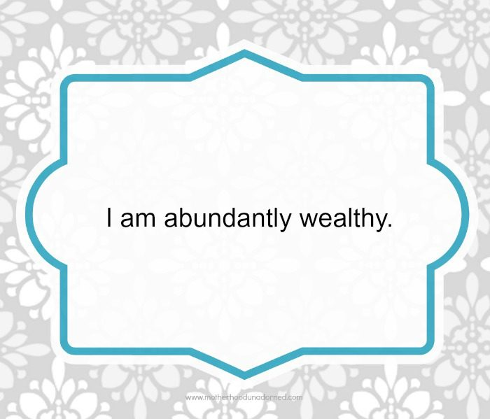 Day 20a 30 Days of Positive Affirmations Wealthy