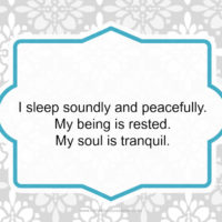 Day 23 of 30 Days of Positive Affirmations Sleep