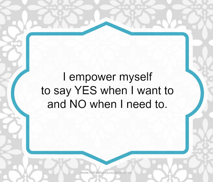 Day 24 of 30 Days of Positive Affirmations YES and NO