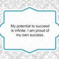 Day 28 of 30 Days of Positive Affirmations Success is Infinite
