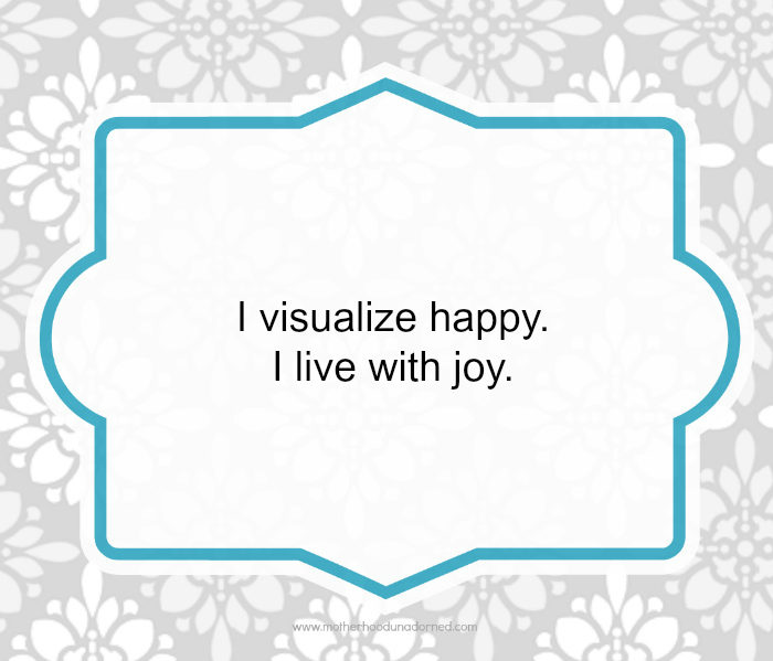 Day 29 of 30 Days of Positive Affirmations Joy