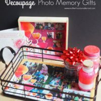 Why Mom Needs to Get in the Photos { Mother's Day Decoupage Memory Gifts }