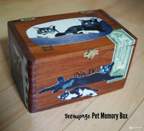 Decoupage Pet Memory Box