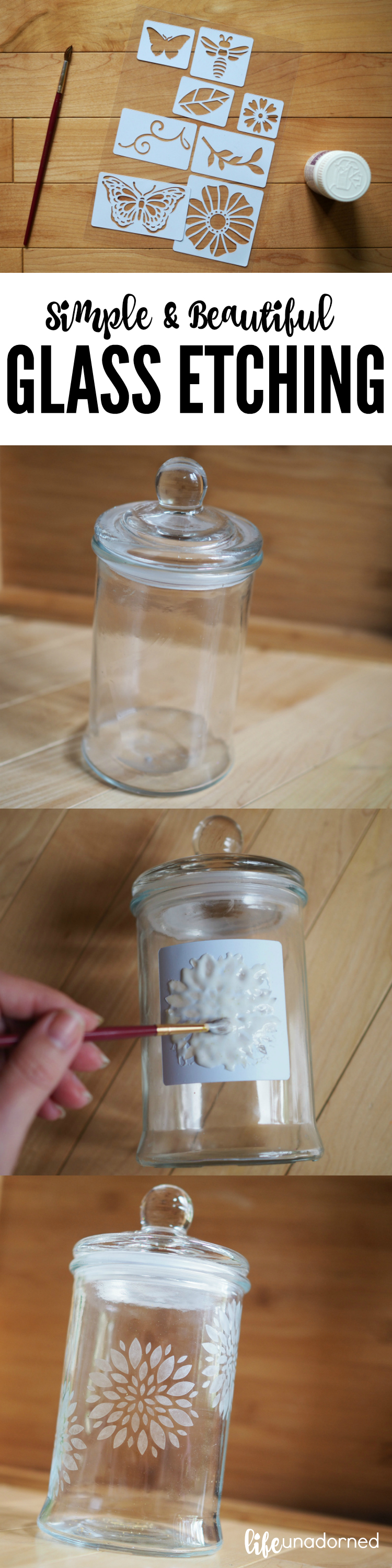 How To Simple and Beautiful Glass Etching Tutorial