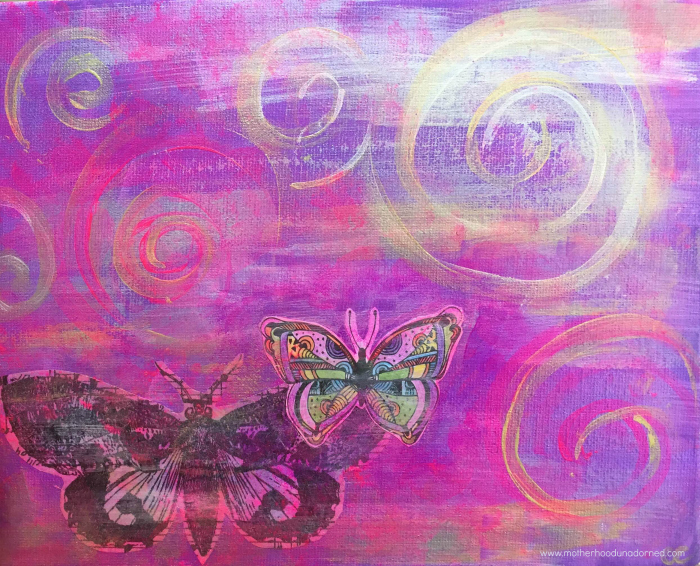 Motherhood Unadorned Butterfly Art