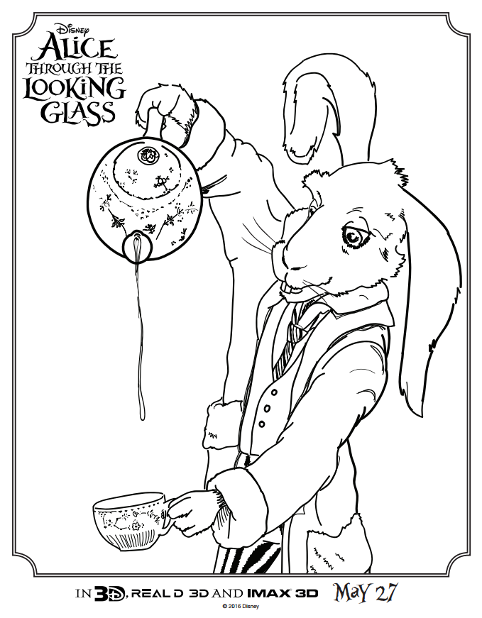 Alice Through the Looking Glass Coloring Sheet3