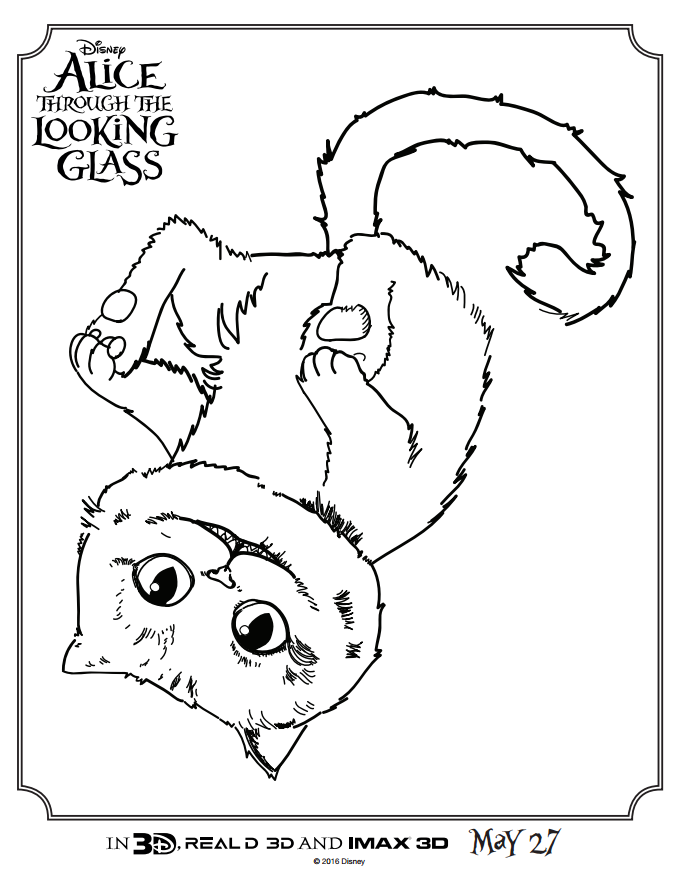 Alice Through the Looking Glass Coloring Sheet4
