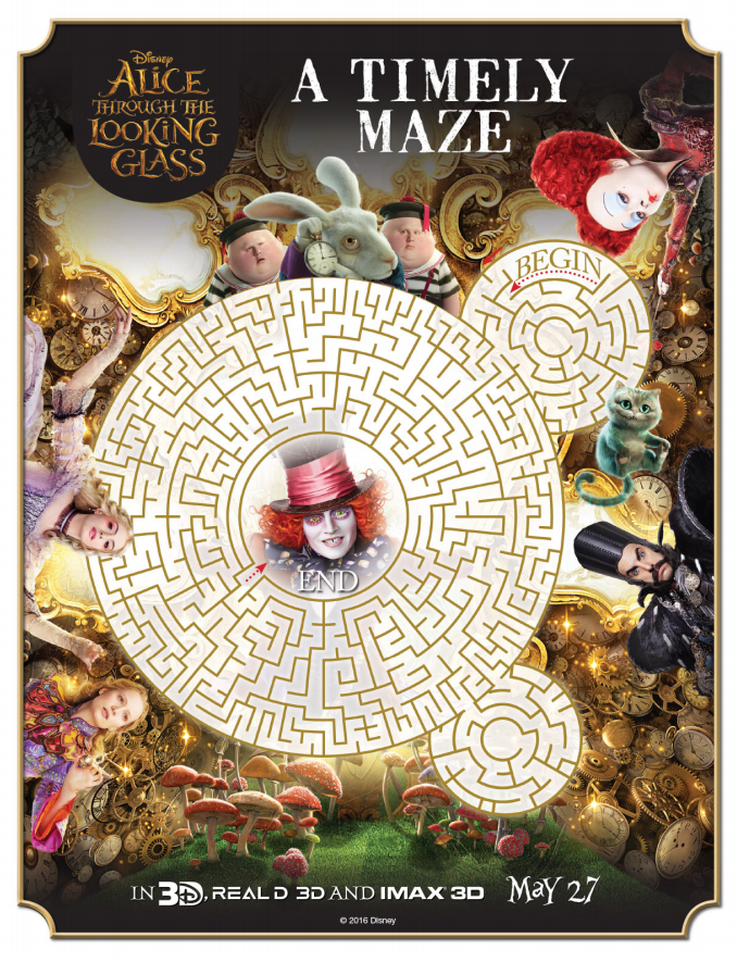 Alice Through the Looking Glass Maze Printable