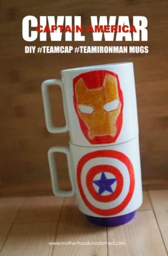 Captain America Civil War mugs