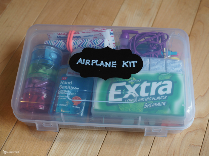 air travel airplane emergency kit