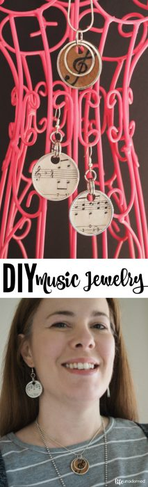 DIY Recycled Music Inspired Jewelry Tutorial