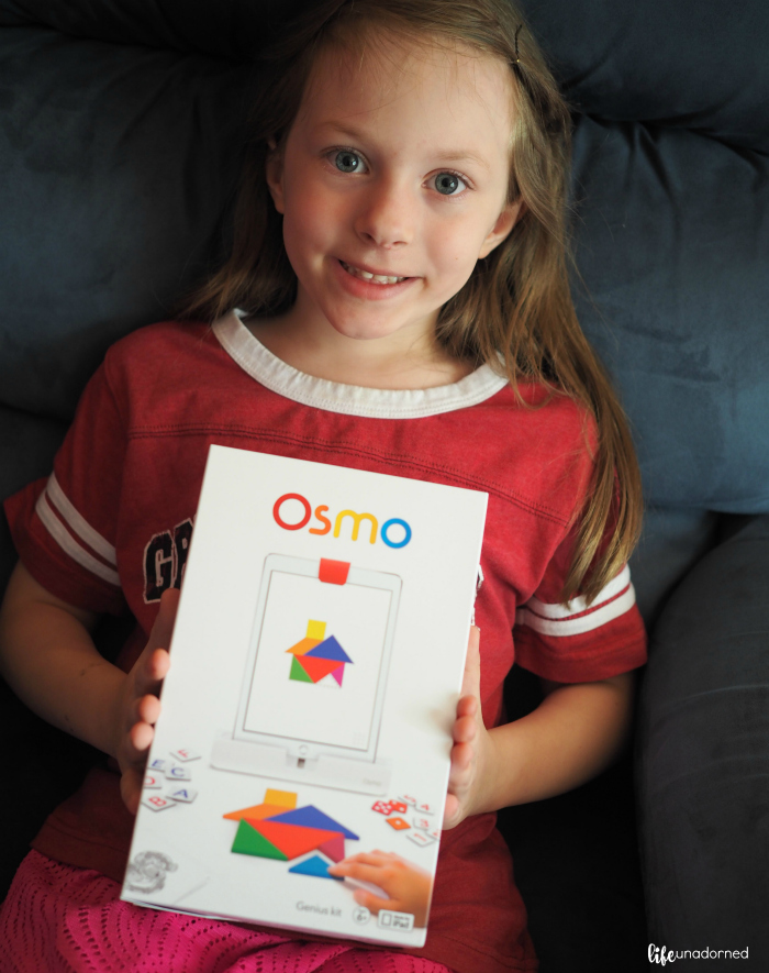 girl with osmo tech game