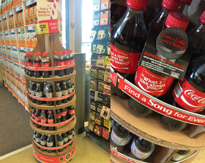 Safeway Share a Coke and a Song Display