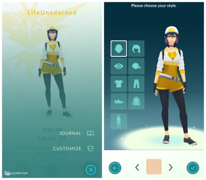 Customize Character Pokemon GO