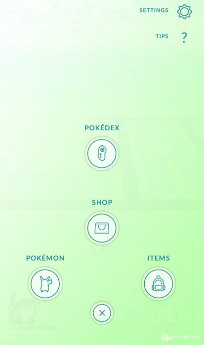 Pokemon GO interface